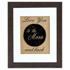 Add a loving touch to your master suite or entryway with this charming framed print, showcasing whimsical hand-painted typography on natural burlap and a dis...