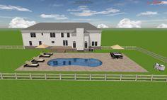 3D Riviera Fiberglass Pool design.