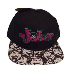 9b13407a8e7 DC The Joker Embroidered Patch Logo Sublimated Flat Brim Snapback Baseball  Cap