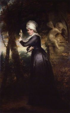 Sarah Siddons (née Kemble) ('Mrs Siddons with the Emblems of Tragedy') by Sir William Beechey oil on canvas, 1793