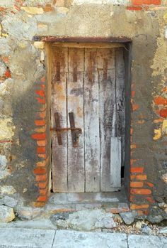 """Orange Door"" by Kim Manley Ort: Old door as seen in Tuscany in 2007. // Buy prints, posters, canvas and framed wall art directly from thousands of independent working artists at Imagekind.com."