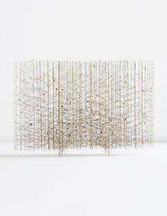 """HARRY BERTOIA """"Golden Rods"""" melt-coated wire sculpture, circa 1959"""