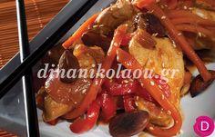 Κοτόπουλο γλυκόξινο με Μοσχάτο | Dina Nikolaou
