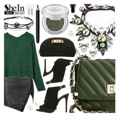 """""""Tokyo diary Shein"""" by pastelneon ❤ liked on Polyvore featuring Steve Madden, Topshop, Ellen Conde, INIKA, Urban Decay, Burberry, Redken, Accessorize, NOVICA and GREEN"""