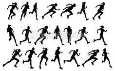 Running silhouette -1