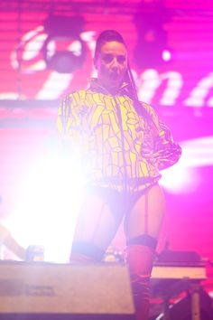 Tara McDonald live on stage at Sea Dance festival 2014