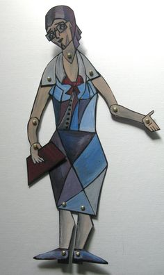 Picasso-people-Librarian-Art-doll