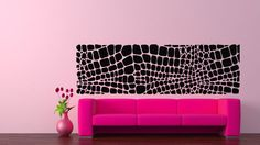 Wall Vinyl Sticker Decals Mural Room Design Pattern Art Decor Crocodile Skin Ornament Modern Abstract mi503 by…