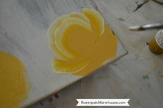 How to Paint a Yellow Rose, step by step, FlowerPatchFarmhouse.com