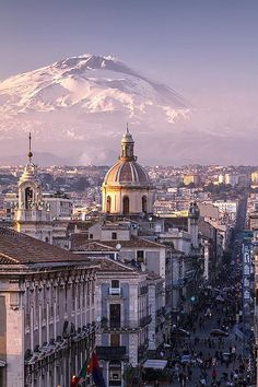 visitheworld: Catania and Mount Etna in the background, Sicily...