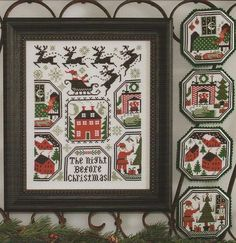 Another wonderful design by The Prairie Schooler. The Night Before Christmas includes charts for a 8 5/8 x 6 7/8 Christmas-themed sampler and four hexagon shaped tree ornaments.