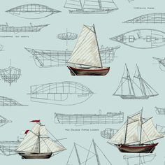 "Nautical Living Pond Yachts 33' x 20.5"" Scenic Wallpaper"