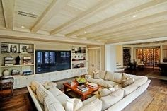 Perfect Depth For Family Room Couch