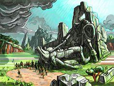 Second Quest, a Zelda-inspired Graphic Novel by David Hellman & Tevis Thompson, via Kickstarter.