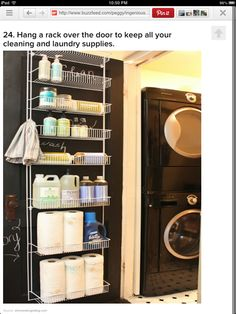 Great way to organize the laundry room