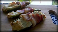 Bacon-Wrapped Jalapeno Poppers.  Make with turkey!