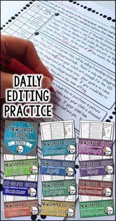 Improve student writing with daily editing practice.