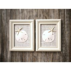 Cottage Chic Set of Beach Wall Art, Nautical Decor, Beach House Decor,... ($52) ❤ liked on Polyvore featuring home, home decor, wall art, omearascottagecharm, white home accessories, starfish wall art, beach home accessories, framed wall art and white home decor