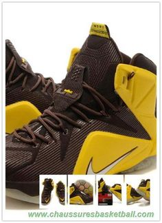 17ebeccfd724 Jaune Marron 684593-013 Nike Lebron 12 P.S. Elite Hommes Nike Lebron