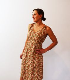 The Mississippi Avenue Dress or Top has a very feminine, flattering and easy style. Versatile for summer or cooler seasons when paired with a cardigan and tights.