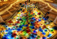 The ceiling in the Bellagio Hotel in Las Vegas
