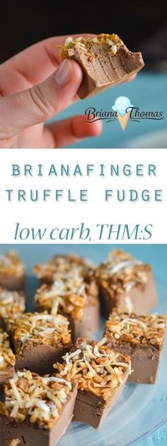 This Brianafinger Truffle Fudge is my low-carb take on the flavors (and textures) of a Butterfinger candy bar!  THM:S (the fudge itself is a Deep S without the toppings), low carb, sugar free, gluten/egg free