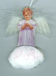 Gracious Blessing Bradford Edition Porcelain Angel 1999 - Ornaments $14.10 Free ship- Christmas in July Sale #cshort0319