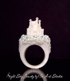 Swarovski castle ring