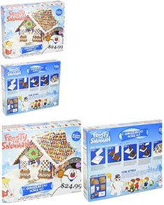 09d7c11a9 Craft Kits 116655: Frosty The Snowman Gingerbread House Craft Kit Pre-Baked  Include All