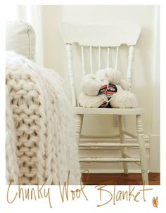 A free chunky wool blanket pattern...must learn to knit..so that i can only make chunky knit blankets.