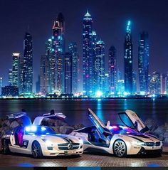 Two of Dubai's police cars Mercedes SLS AMG & BMW i8 tag a friend who would be your partner by kixheaven
