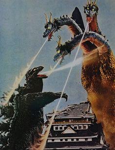 Twitter Godzilla Wallpaper, King Kong Vs Godzilla, Godzilla Birthday, Godzilla Toys, Japanese Monster, Fnaf Drawings, Anime Fantasy, Weird World, Retro Art