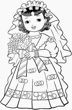 日本の女の子は、ページを着色、着色、印刷!