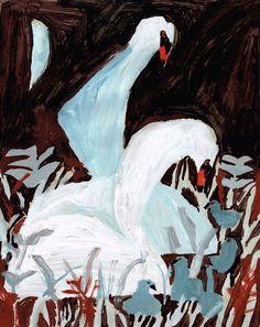 My Owl Barn: Japanese Illustrator Miroco Machiko Art And Illustration, Illustrations Posters, Wild Geese Mary Oliver, Art Chinois, Japanese Artists, Animal Paintings, Outsider Art, Bird Art, Graphic