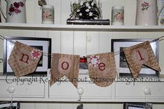 Tuesday, 6 August 2013 ReJoyce about Stampin: Christmas banner made from brown paper....