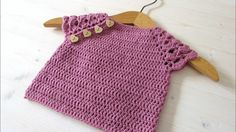 How to crochet a pretty lace sleeve baby top / sweater
