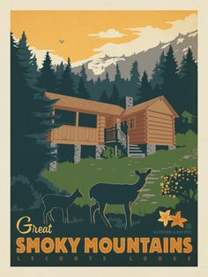 Anderson Design Group – American National Parks – Great Smoky Mountains: LeConte Lodge