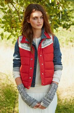 Rubbish® Nordic Knit Quilted Vest (Juniors) | Nordstrom
