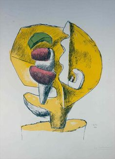Fondation Le Corbusier - Engraving - Ubu, composition polychrome d'Ozon