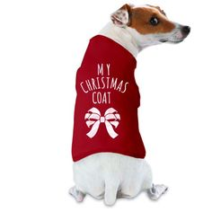 My Doggy Christmas Coat Film & Foil Dog Tank Top: Gifts for all occasions