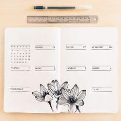 New week, new month! I always liked the fresh start of a new month, but I enjoy it even more so now that I bullet journal. . These flowers…