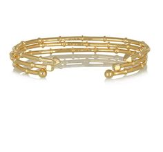 The Fling: Arme de L'Amour set of three gold-plated bracelets