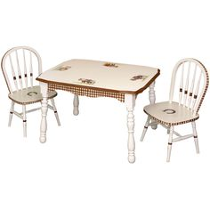 Buy Your Vintage Table And Chair Set   Ponies By Art For Kids Here. This  Vintage Table And Chair Set From Art For Kids Features Red Gingham Trim And  Antique ...