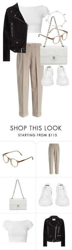 """""""Untitled #22312"""" by florencia95 ❤ liked on Polyvore featuring Cutler and Gross, Michael Kors, Chanel, adidas, Helmut Lang, Acne Studios and Giani Bernini"""