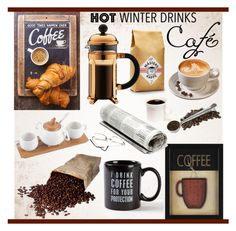"""""""Coffee"""" by hastypudding ❤ liked on Polyvore featuring interior, interiors, interior design, home, home decor, interior decorating, CO, Brandani, coffee and homeset"""