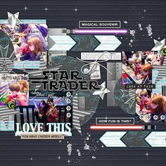 Disney Star Trader digital scrapbooking page by wendy using Project Mouse (SouvenEARS) by Britt-ish Designs and Sahlin Studio