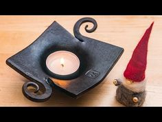 Blacksmithing - Tealight candle holder experiment - YouTube