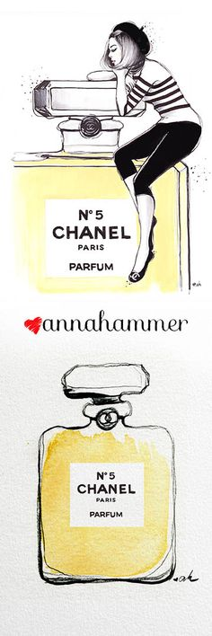 Chanel Illustration, available on Etsy. Fashion illustration by anna hammer