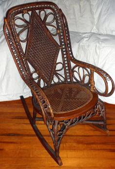 wicker rocking chairs chair covers uk 42 best images rocker intricate antique rattan by domesticplatypus 298 00 willow furniture cane