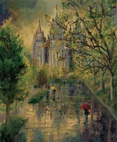 I'm a sucker for the impressionistic style so I instantly fell in love with Sandra Rast.  A modern impressionist that paints religious artwork.  The first time I saw this print I couldn't stop thinking about it.